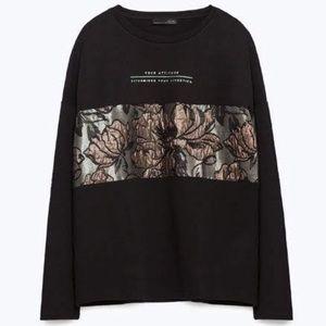 Zara Brocade Patchwork Sweater